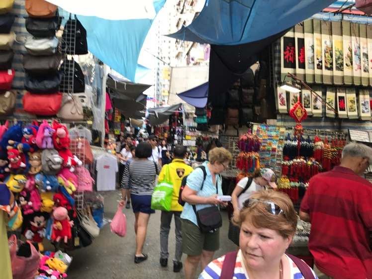 Ladies Market in Hing Kong is filled with finds and people