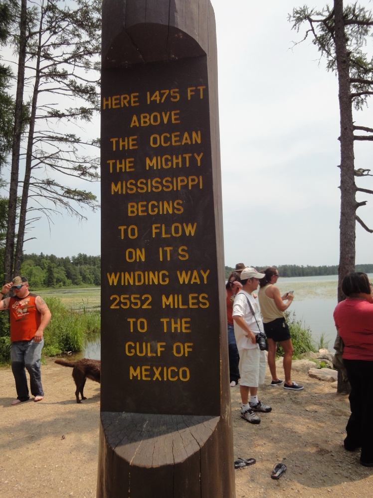 Mississippi River's headwaters at the Lake Itasca are a popular attraction