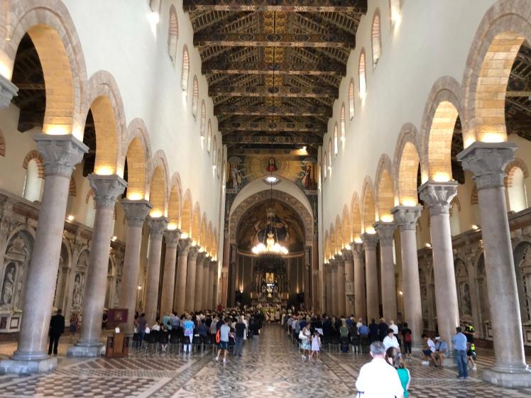 Archbishop's memorial mass at Messina Cathedral, Sicily